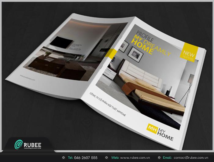 thiết kế  hồ sơ năng lực công ty nội thất