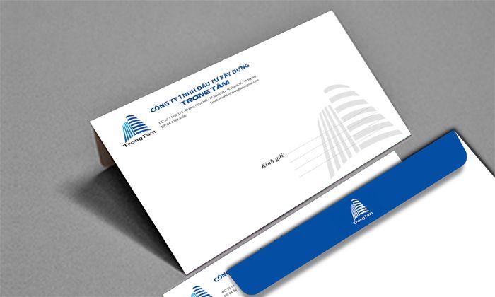 Mẫu phong bì thư cho công ty xây dựng