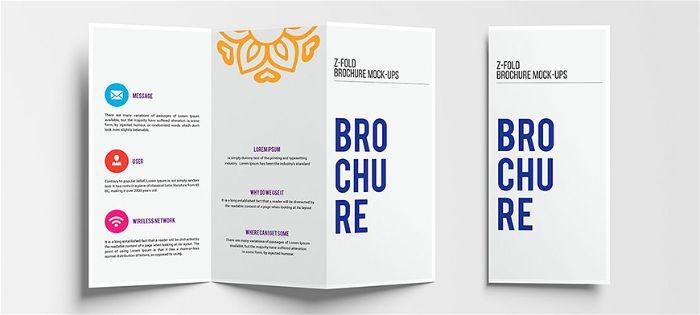 so sánh tờ gấp với brochure
