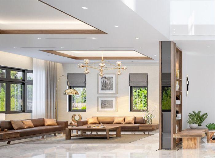 Đặc điểm phong cách thiết kế nội thất biệt thự hiện đại