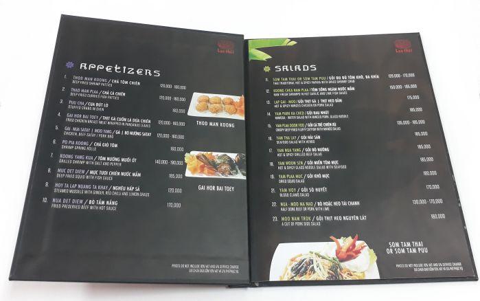 menu nhà hàng