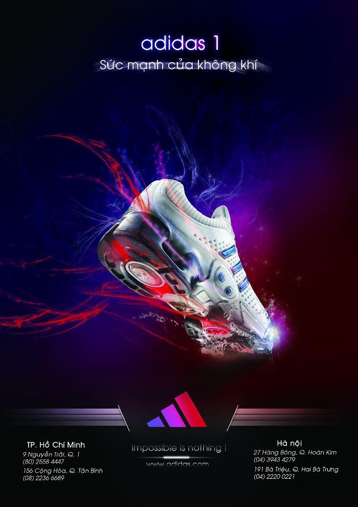 mẫu quảng cáo poster của adidas