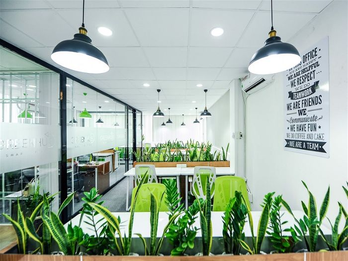 Nội thất văn phòng xanh Eco