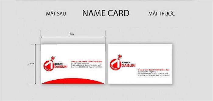 Kích thước in name card chuẩn quốc tế