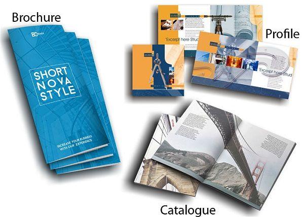 Điểm khác biệt giữa Profile, Catalogue, Brochure là gì?