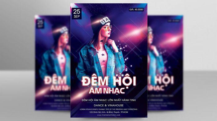thiết kế poster âm nhạc