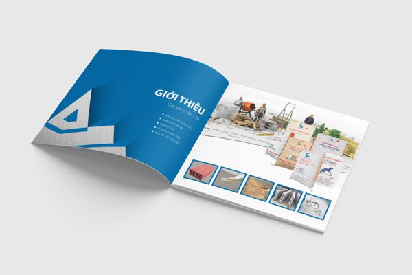 mẫu catalogue sử dụng giấy couche
