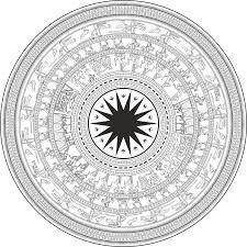 mẫu hoa văn trống đồng vector 5