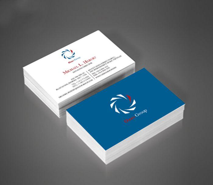 mẫu name card sử dụng giấy couche