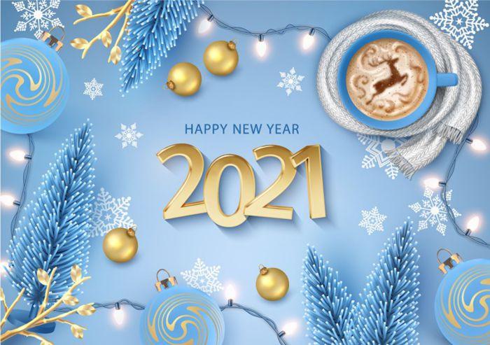 Mẫu banner chúc mừng năm mới độc đáo