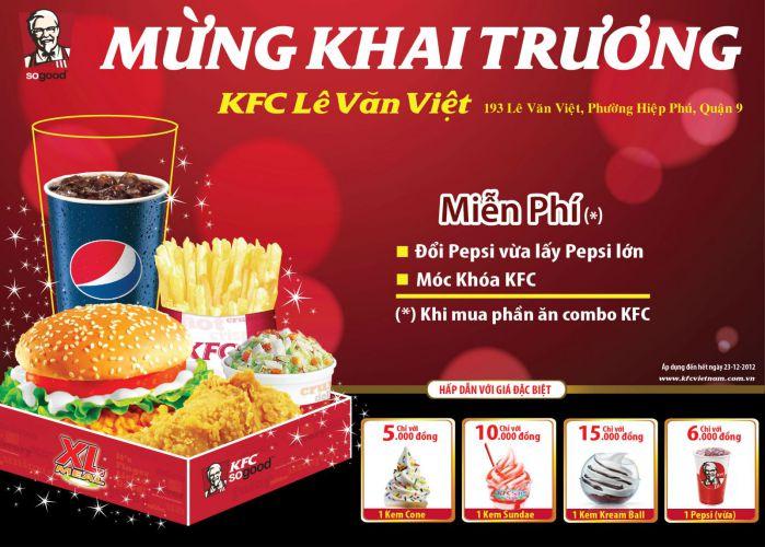 mẫu banner quảng cáo của kfc