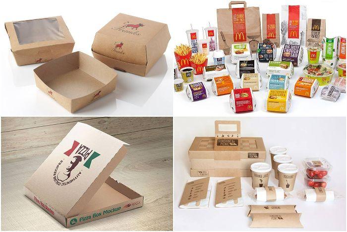 mẫu hộp giấy kraft đựng thức ăn