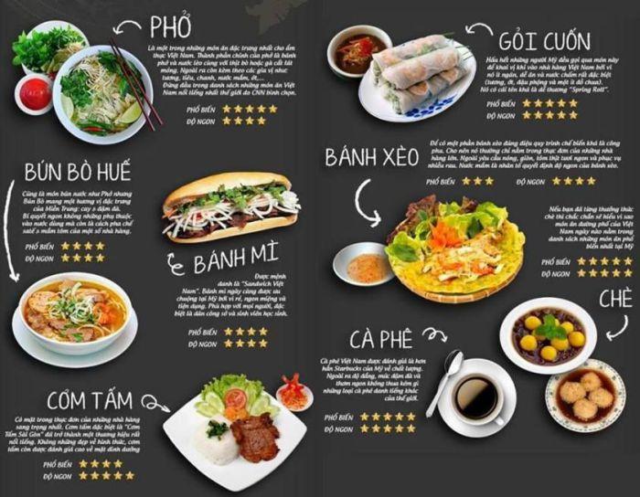 Mẫu thiết kế menu nhà hàng, quán ăn chuyên nghiệp