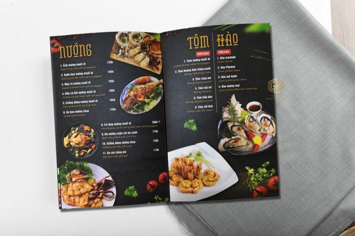 Mẫu thiết kế menu nhà hàng, quán ăn