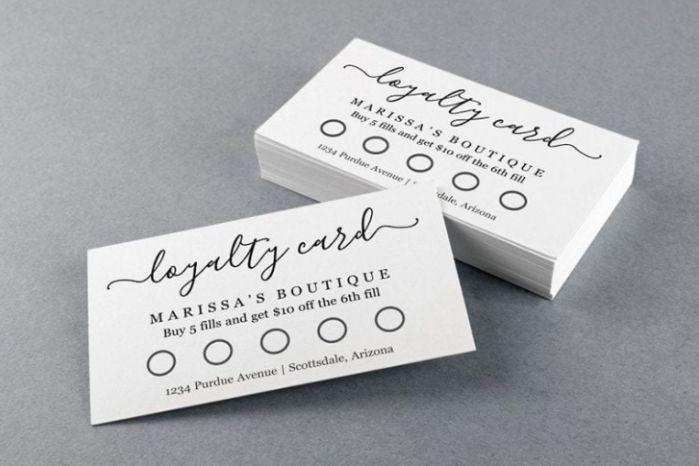 Thẻ tích điểm bằng giấy
