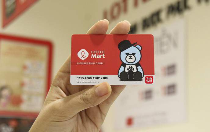 Thẻ tích điểm Lotte Mart