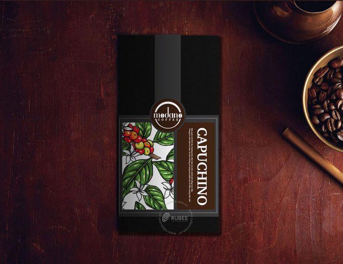 mẫu bao bì cà phê modano