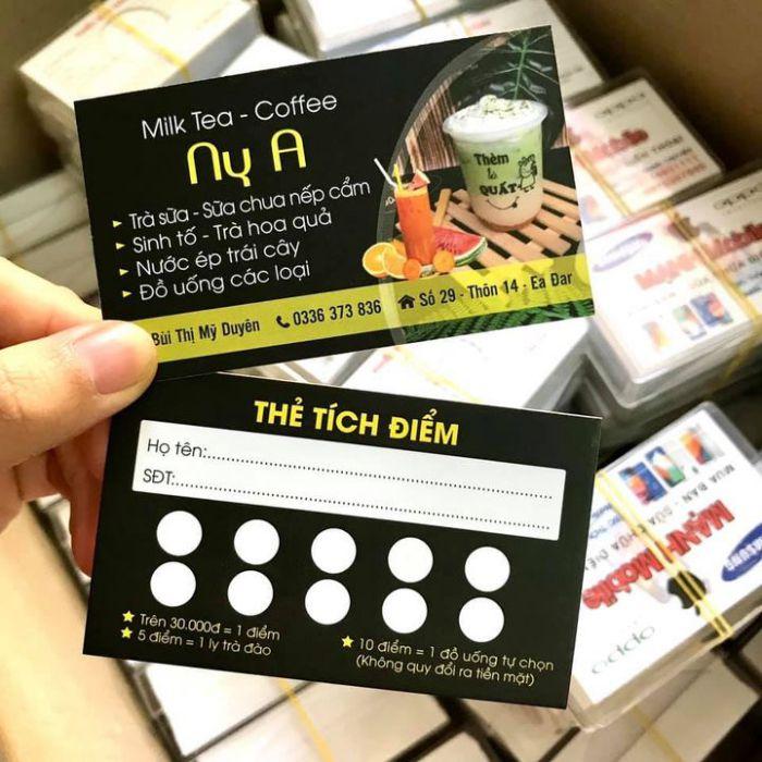 Mẫu thẻ tích điểm trà sữa chuyên nghiệp