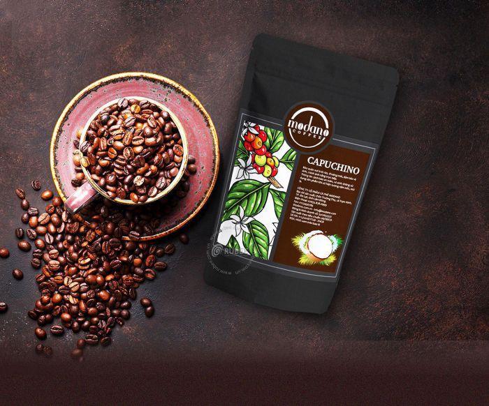 thiết kế bao bì cà phê modano tại Rubee