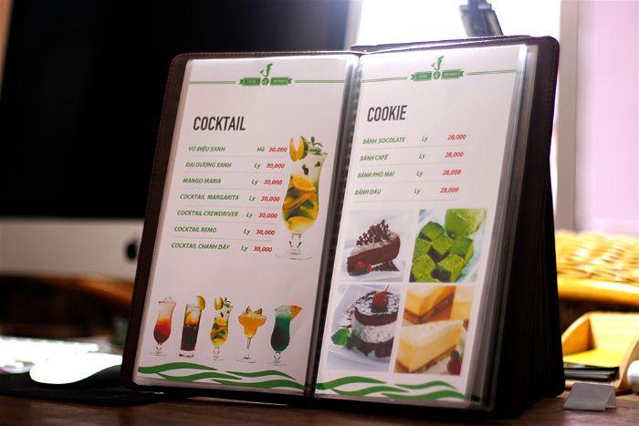 Các loại menu cafe thường được dùng hiện nay