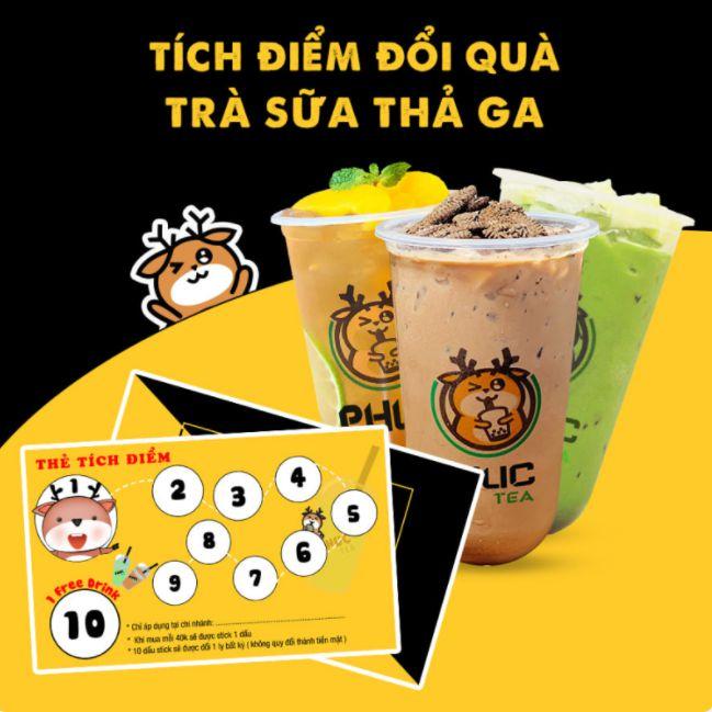 thẻ tích điểm trà sữa